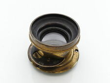 HUSBANDS WIDE ANGLE RECTILINEAR F11 BRASS PLATE CAMERA LENS BOKEH LARGE FORMAT 7