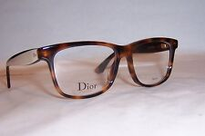 NEW CHRISTIAN DIOR EYEGLASSES CD 3290 LWG HAVANA IVORY BLACK 52mm RX AUTHENTIC
