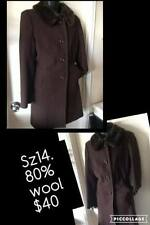 Wool Blend Trench Plus Size Coats & Jackets for Women