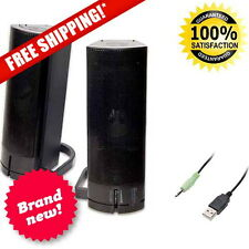 SYBA Multipurpose Desktop PC or TV Sound Bar Stereo Speakers Woofer Laptop NEW