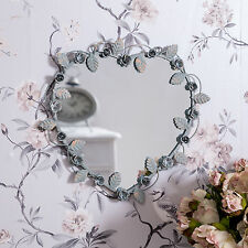 SPECCHIO Parete Cuore Grigio ORNATA Shabby Chic Ghirlanda regalo Vanity Love Home Decor