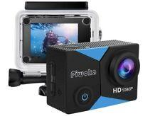 "Piwoka Action Camera 1080P 12Mp Waterproof Underwater 98ft Sports Camera 2"" Lcd"