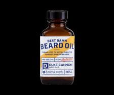 Beard Oil Duke Cannon Redwood Scent 3 oz Best Damn Men's Beard Mustache Groom