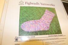 Figheadh Knitting Pattern 2210 Zig Zag Lace Socks Women's 8 (adjustable)