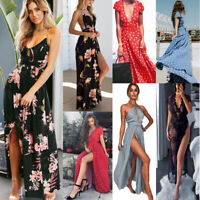 Women Summer Boho Floral Long Maxi Evening Cocktail Party Beach Dress Sundress*