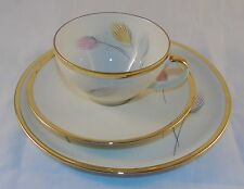 VINTAGE ESCHENBACH BAVARIA ELEGANT TEA CUP AND SAUCER TRIO GOLD TRIMMED FEATHER