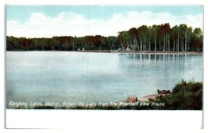Early 1900s Across from the Mountain View House, Rangeley Lake, Maine Postcard