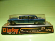 DINKY TOYS 128 MERCEDES BENZ 600 - BLUE - RARE SELTEN - GOOD IN BLISTER
