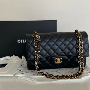 Chanel bag Classic Jumbo Caviar 100% Authentic with Gold Hardware