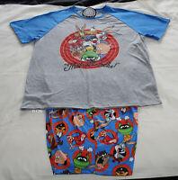 Looney Tunes Mens Thats All Folks Printed 2 Piece Pyjama Set Size XL New