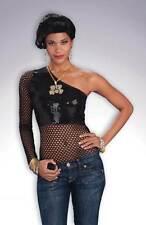 FEMALE HIP HOP MESH TOP, FANCY DRESS COSTUME