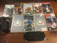 Sony PSP 1000 Black Handheld System with 9 Games & UMD