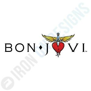 BON JOVI LOGO - IRON ON TSHIRT TRANSFERS - A6 A5 A4
