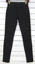J Brand Black Leopard Print 620 Super Skinny Mid-Rise Photo Ready Jeans 24 NWOT