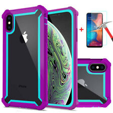 For iPhone XR XS MAX X 8 7 6s Plus Clear Case Shockproof Heavy Duty Hybrid Cover