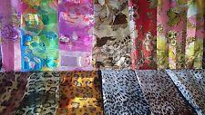 Joblots 24 pcs fausse soie foulards Fleur & Imprimé Animal Wholesale 100x100 cm Lot M
