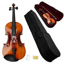 "Ne 15"" Brown Beginner School Student Acoustic Viola + Case + Bow +Rosin"