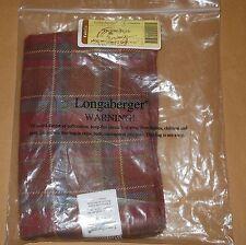 NEW Longaberger fabric basket liner PICNIC TOTE #23444268 TOBOSO PLAID #6-Y