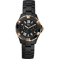 NEW SWISS GUESS COLLECTION GC X69004L2S BLACK CERAMIC CHRONOGRAPH WOMEN'S WATCH
