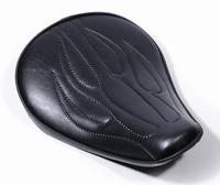 Flammen Solo Sitz extra flach klein small für Harley-Davidson Softail Sportster
