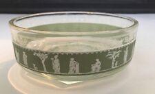 "Wedgwood Jeannette Bowl 4.5"" Diameter Green Clear Glass"