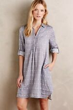 ISABELLA SINCLAIR Anthropologie Polka Dot Double Cotton Dress Pockets Size Small