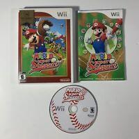 Mario Super Sluggers (Nintendo Wii, 2008) Complete w/ Manual Baseball Tested