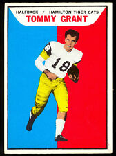 1965 TOPPS CFL FOOTBALL #50 TOMMY GRANT EX-NM HAMILTON TIGER CATS Winnipeg HOF