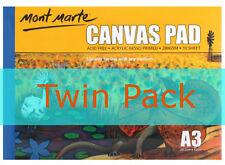 2 x Mont Marte Canvas Pad A3 280gsm 10 sheet (CAXX0023)