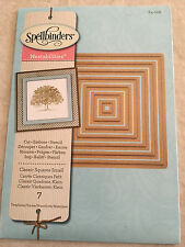 Spellbinder Nestabilities Dies  Classic Squares Small S4-128 New