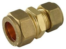 NEW Brass 28mm to 22mm reducing BRASS compression coupler fitting. UK Seller