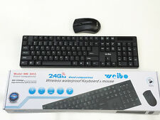 2.4 Ghz WIRELESS WATERPROOF KEYBOARD & MOUSE-Brand New