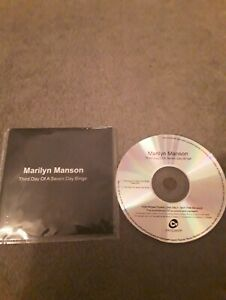 "MARILYN MANSON ""THIRD DAY OF A SEVEN DAY BINGE"" 2 TRACK PROMO SINGLE PLASTIC SLE"