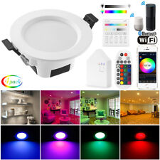 4X 5W 9W Smart WIFI Bluetooth APP RGBWWCW LED Ceiling Lamp Down Light Spotlights