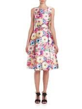 Oscar de la Renta Floral Print Fit and Flare Sleeveless Dress Size 6 $2190