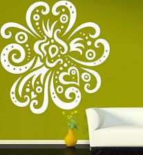 Wall Vinyl Sticker Big Exotic Flower Very Beautiful Decorative Image (n135)