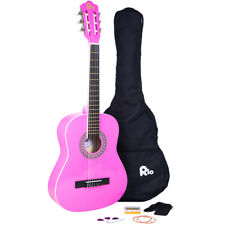 Rio 3/4 Junior Beginner Classical Acoustic Guitar Pack Package Outfit Pink