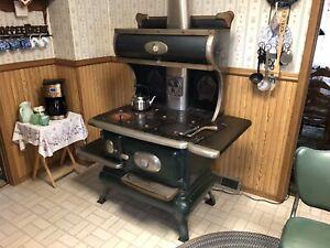Antique coal/wood cook stove