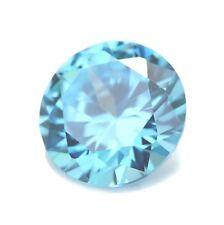 12 mm redondo Natural Sky Blue Topaz Joya Piedra Preciosa
