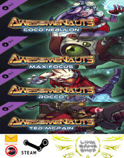 Awesomenauts - Coco Nebulon-Max Focus-Rocco-Skolldir-Ted McPain PC STEAM KEY