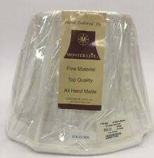 "Monterlite 12"" White French Oval Lamp Shade New In Plastic"