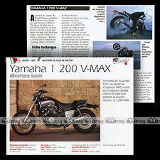 YAMAHA 1200 V-MAX (VMAX) 1985 - Fiche Moto Motorrad Motorcycle Card MRC
