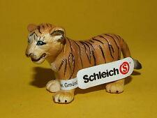 04) Schleich Schleichtier - Tiger Baby Junges 14187 unbespielt mit Schild