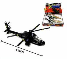6 DIE CAST MILITARY HELICOPTERS war chopper prop toy