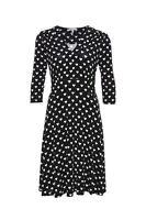schwingendes Kleid schwarz/weiß, exell. Qualität, sem per lei, Gr. 36, 38, 40