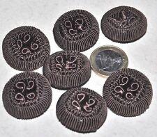 Mercerie Bouton de passementerie marron sur résine 28mm vendu à l'unité button