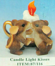 Fitz & Floyd Charming Tails Candle Light Kisses Mouse Figurine 87/116