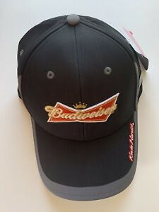 Budweiser Racing Speed Nascar Fitted Hat Cap Kevin Harvick