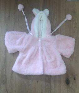 Very Pretty Pink Fleece Jacket For Baby Girls - 6  months. BNWOT