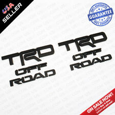2x Left & Right 4Runner TRD Off Road Badge Side Quarter Emblem - Matte Black